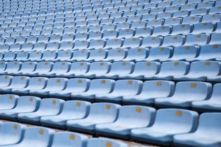 Closeup detail of the blue stadium seats Stock fotó