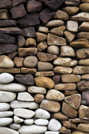Detail of the old rustic stone wall backdrop Imagens - 96770350