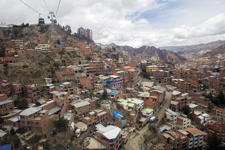 Aerial view at La Paz, Bolivia. It is capital and third largest Bolivian city