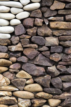 Detail of the old rustic stone wall backdrop Banco de Imagens - 96844548