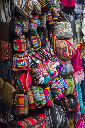 Traditional handcrafts on the Witches market in La Paz, Bolivia.