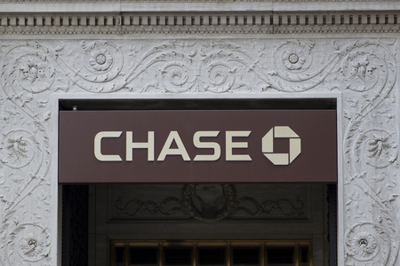 NEW YORK, USA - AUGUST 27, 2017: Chase bank in New York. It is national bank founded at 1799.