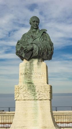 サンマリノのバルトロメオ・ボルゲシ記念碑の眺め 写真素材