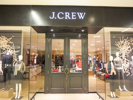ALBERTA, CANADA - SEPTEMBER 20, 2014: J.Crew store in Alberta, Canada. It is an American fashion company founded at 1983.