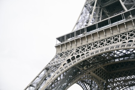View at Eiffel tower in Paris, France Stockfoto