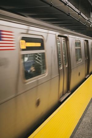 Detail of the New YorkCity subway station Banco de Imagens