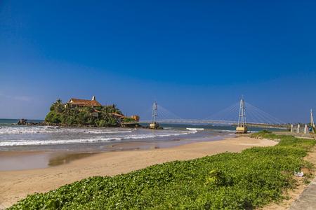View at Paravi Duwa Temple in  Matara, Sri Lanka Stock Photo