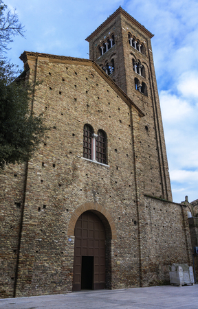 View at Basilica of San Francesco in Ravenna, Italy
