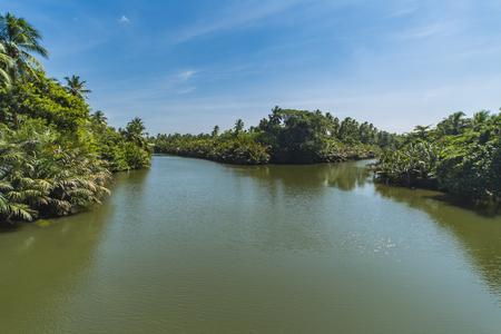 View at lagoon near Negombo, Sri Lanka Stock Photo