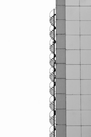 Closeup detail of the concrete urban building Stock Photo - 97849967