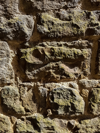 Detail of the old vintage stone wall Foto de archivo - 97854547