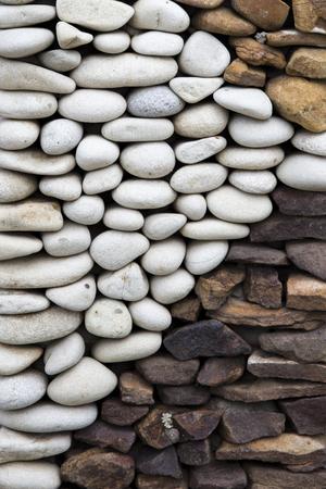 Closeup detail of the pebbles stone road backdrop Stok Fotoğraf - 97854494