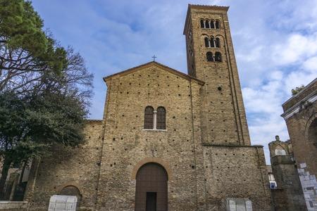 イタリア・ラヴェンナのサンフランチェスコ大聖堂での眺め 写真素材