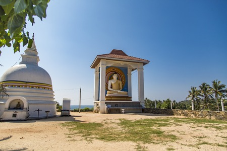 Detail of Temple Wella Devalaya in Unawatuna, Sri Lanka Imagens - 97852997