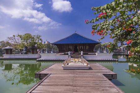 View at Gangaramaya Temple in Colombo, Sri Lanka