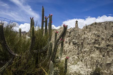 Rock formations of Valle de la luna in Bolivia