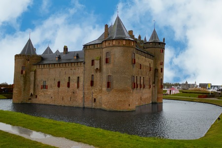 View at Muiden castle in the Netherlands Stock Photo