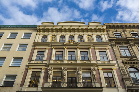 View at traditional building in Vienna, Austria