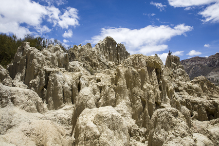 Rock formations of Valle de la luna in Bolivia