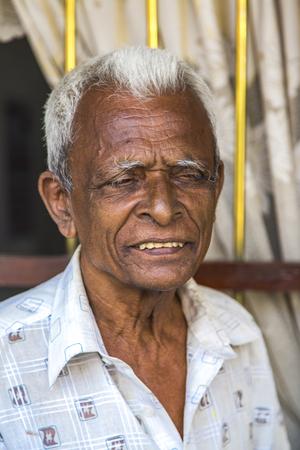 GALLE, SRI LANKA - JANUARY 24, 2014: Unidentified man on the street of Galle, Sri Lanka.