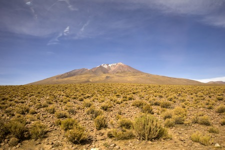 Licancabur volcano in Reserva Nacional de Fauna Andina Eduardo Avaroa in Bolivia