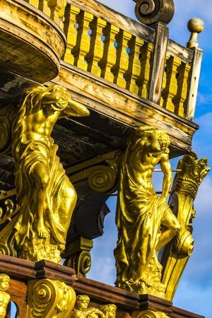 GENOA, ITALY - MARCH 9, 2018: Galleon Neptun in Porto antico in Genoa, Italy. It is a ship replica of a 17th century Spanish galleon built in 1985 for Roman Polanski's film Pirates. Editorial