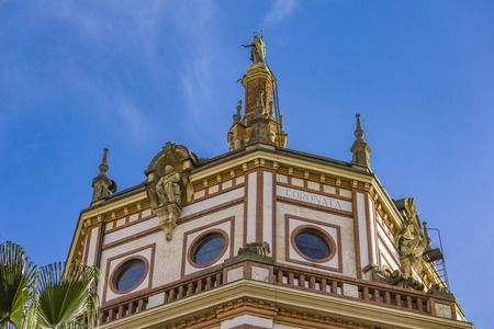 Dome of the basilica of San Gervasio e Protasio in Rapallo, Italy Stock Photo - 98795486