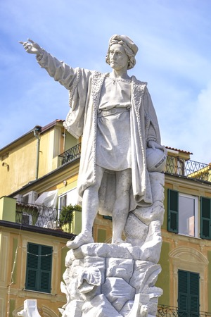 Detail from monument to Christopher Columbus in Santa Margherita Ligure, Italy
