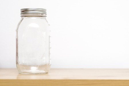Empty jar with cover  on storage