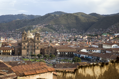 View at town Cusco in the Peruvian Andes