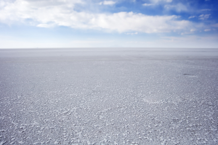 View at Salar de uyuni salt flat in Bolivia