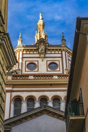 Dome of the basilica of San Gervasio e Protasio in Rapallo, Italy Stock Photo