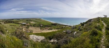 High angle view at Kourion beach on Cyprus 版權商用圖片
