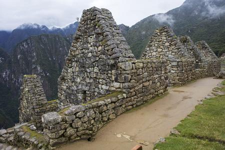 Detail of the Machu Picchu ruins in Peru 스톡 콘텐츠