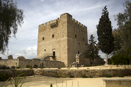Detail of Kolossi castle on Cyprus, former Crusader stronghold from 15th century Stock Photo