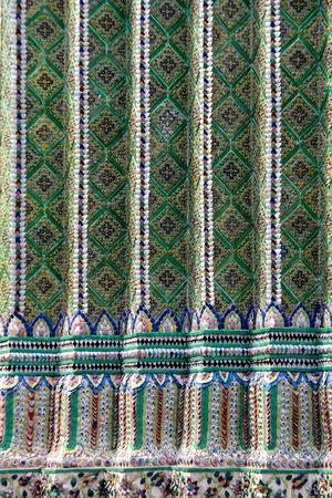 Close up detail view in Royal Palace in Bangkok, Thailand