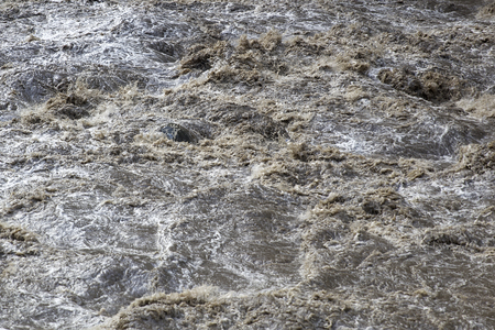Detail of the Urubamba river in Peru
