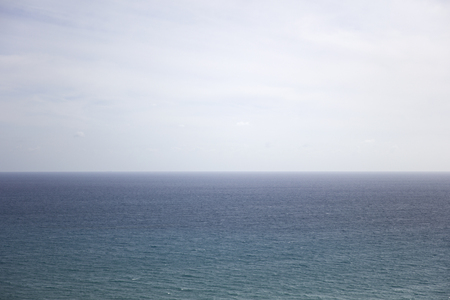 View at blue sea horizon on a sunny day