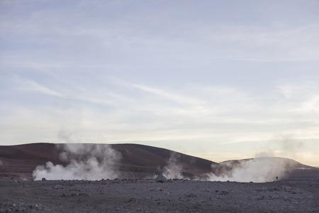 Geysers Sol de Manana at Eduardo Avaroa Andean Fauna National Reserve in Bolivia