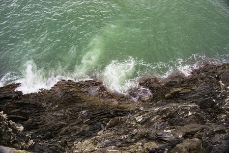 Rocky shore of the Ligurian sea in Cinque Terre, Italy