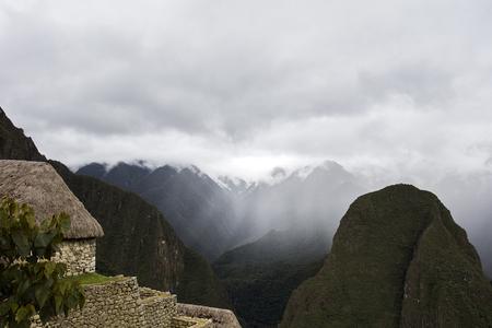 Detail of the Machu Picchu Inca citadel in Peru Banco de Imagens