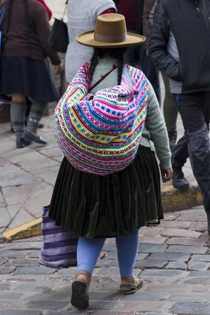 CUSCO, PERU: Unidentified woman on the street of Cusco, Peru.