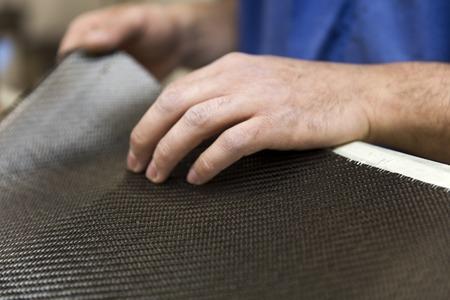 Closeup detail of the carbon fiber workshop