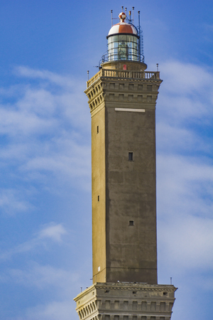 View at Lighthouse of Genoa in Italy Foto de archivo - 101213179