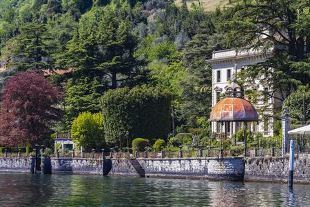 View at town Sala Comacina on Como lake in Italy