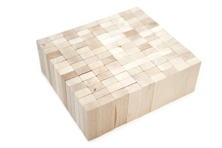 Group of wooden blocks isolated on the white background Фото со стока
