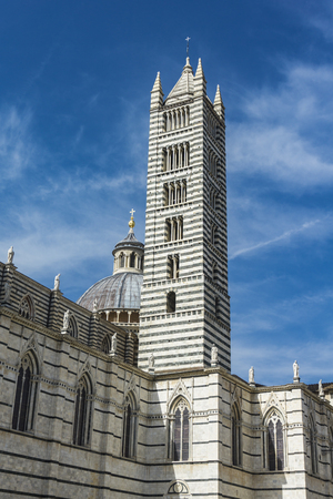 View at the Siena Cathedral in Italy 스톡 콘텐츠