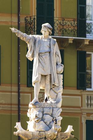 View at Christofer Columbus monument in Santa Margherita Ligure in Italy Stock fotó