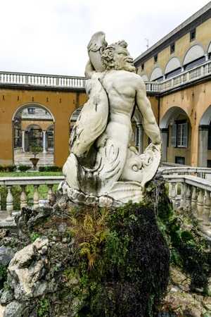 GENOA, ITALY - MARCH 11, 2018: Detail from Giardino del Satiro at Villa del Principe in Genoa, Italy. Villa was built between 1521 and 1529 for Andrea Doria, Admiral of Emperor Charles V. Stock Photo - 101998961