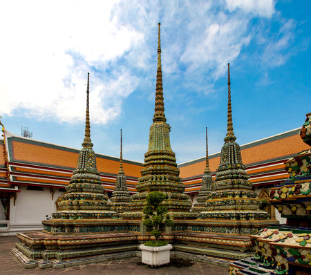 Detail of Wat Po temple in Bangkok, Thailand Stock Photo